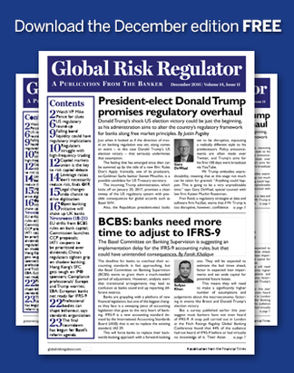 Global Risk regulator - December Issue